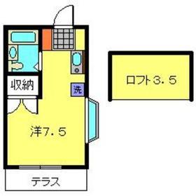 シャルム・ド・羽沢八番館1階Fの間取り画像
