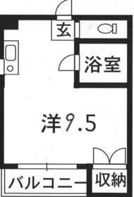 フローラル新屋敷3階Fの間取り画像