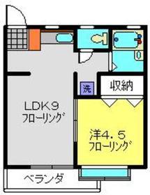 コーポ宮沢22階Fの間取り画像
