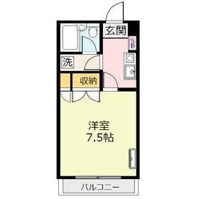 鶴瀬オークビル2階Fの間取り画像