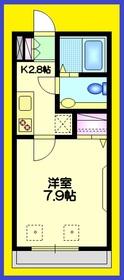 アビタシオン ウルバーナ3階Fの間取り画像