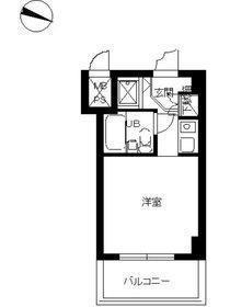 スカイコートパシフィック川崎5階Fの間取り画像