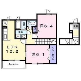 アストンヒル2階Fの間取り画像