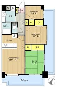 シーアイマンション京王稲城8階Fの間取り画像
