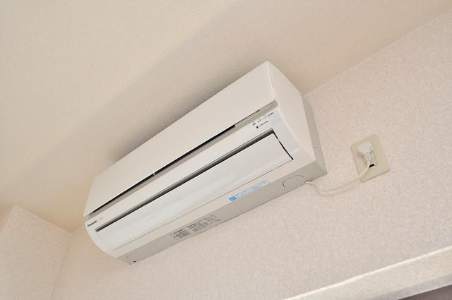 ビクトワール小阪 エアコンが最初からついているなんて、本当にうれしい限りです。