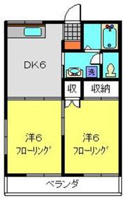 メゾンYOKOHAMA2階Fの間取り画像