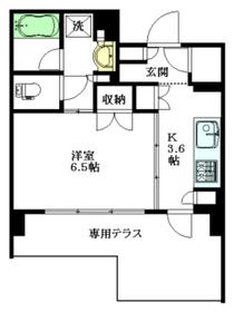 アトラス中野南台1階Fの間取り画像