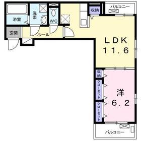 セレジェイラ2階Fの間取り画像