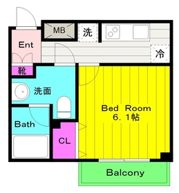 生田駅 徒歩1分2階Fの間取り画像