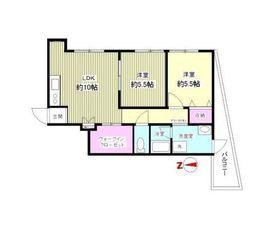 カーメルプラザ2階Fの間取り画像