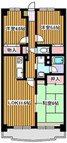 地下鉄成増駅 徒歩9分3階Fの間取り画像