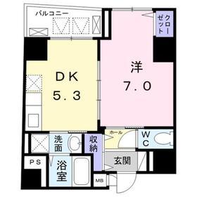 パラシオン千代田7階Fの間取り画像