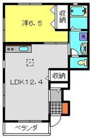メゾン・ド・ロイ1階Fの間取り画像