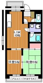 グリーンハイツ田柄1階Fの間取り画像