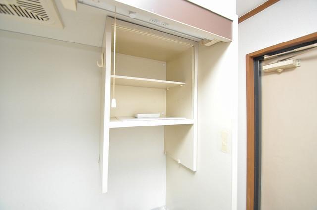 コーポフェルメール 吊り戸棚付きで収納力バツグンです。