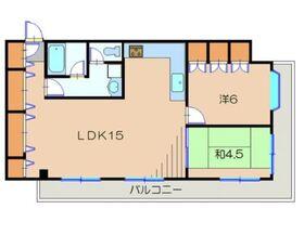 久慈ハイツ3階Fの間取り画像