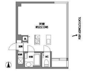 フォレシティ東麻布5階Fの間取り画像