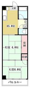 吉田ハイツ3階Fの間取り画像