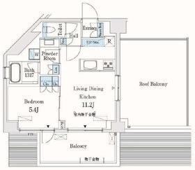 市谷仲之町ビューアパートメント12階Fの間取り画像