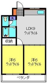 日吉パフィオマンション1階Fの間取り画像