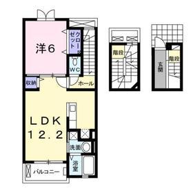 西高島平駅 徒歩21分3階Fの間取り画像