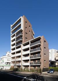 グリーンリーフ西早稲田南向きのマンションは日当り良好です。