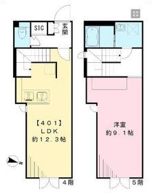 LAPiS COURT YOTSUYA4-5階Fの間取り画像