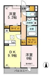 Amour櫻花3階Fの間取り画像
