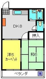 シャルマン三ツ境2階Fの間取り画像