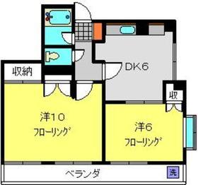 新羽駅 徒歩15分3階Fの間取り画像