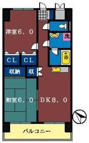 グランドールマンション1階Fの間取り画像