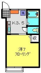 和光ハイツ2階Fの間取り画像