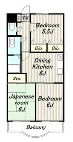 フィフスフロンティア2階Fの間取り画像