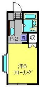 三ッ沢上町駅 徒歩23分2階Fの間取り画像