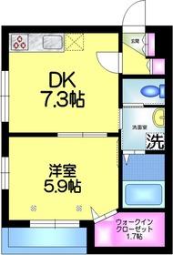 HIRO メゾン2階Fの間取り画像