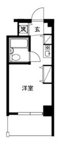 コスモハイム元住吉2階Fの間取り画像