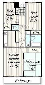 エクレール綾瀬4階Fの間取り画像