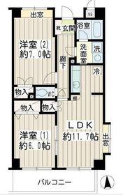 イエルド・ロシーオ井土ヶ谷6階Fの間取り画像
