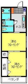 マリナーズプラザ東蒔田5階Fの間取り画像