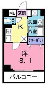 プレジール2階Fの間取り画像