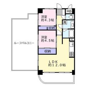 ライオンズマンション上福岡第55階Fの間取り画像