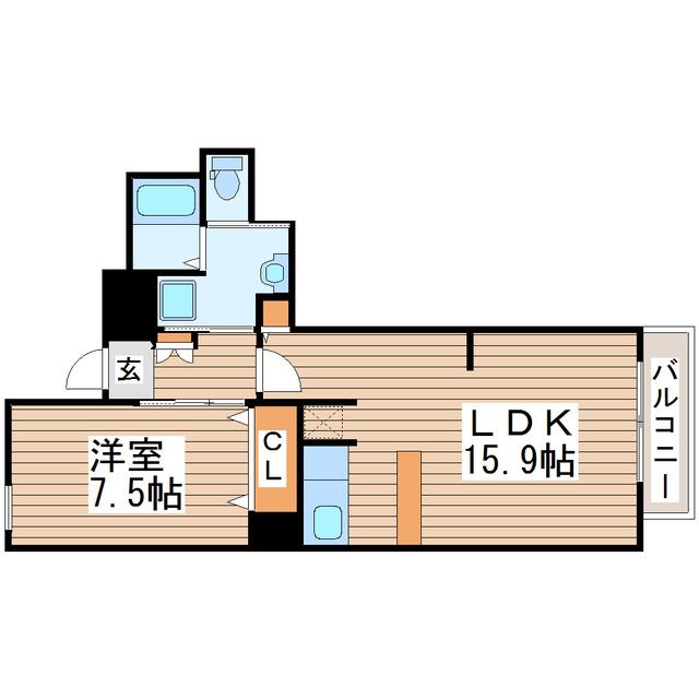 榴ヶ岡駅 徒歩7分間取図