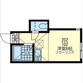 ユナイト鶴見メアリーポート2階Fの間取り画像