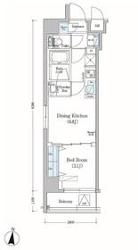 アーバネックス森下Ⅱ2階Fの間取り画像