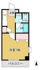 日星天神ビル3階Fの間取り画像