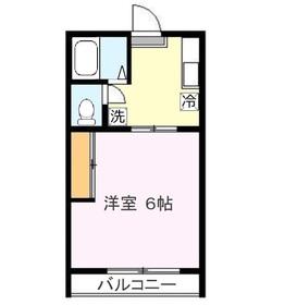 クロノス上福岡WEST2階Fの間取り画像