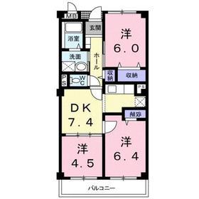 グラディオ・AKAYAMA3階Fの間取り画像