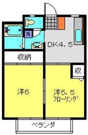 ドエル・アルス神大寺22階Fの間取り画像