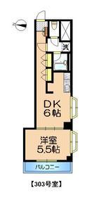 HJフレール2階Fの間取り画像