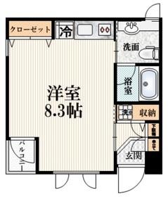 SASAZUKA-SUR-MER2階Fの間取り画像